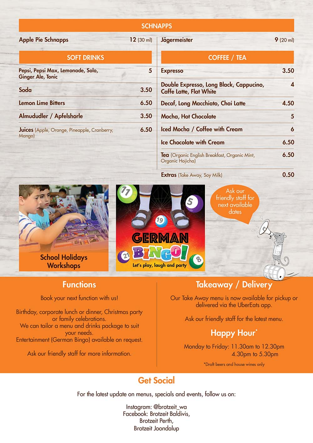 JOONDALUP SUMMER MENU
